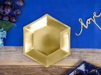 6 Partynacht Pappteller gold 20cm