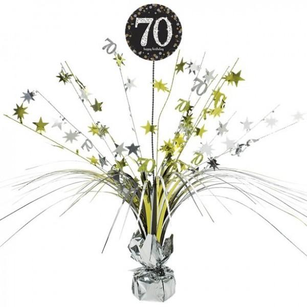 Golden 70th Birthday Tischfontäne 46cm