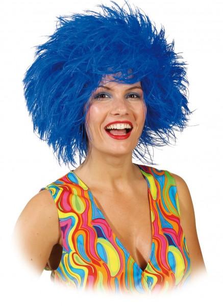 Perruque Femme Crinière Bleu Sauvage