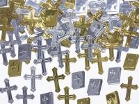 Streudeko Bibel und Kreuz Silber Gold 15g