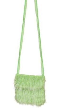 Grüne Umhängetasche aus Plüsch