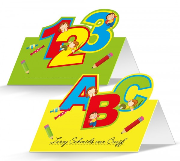 24 school start place cards 10 x 7.5cm