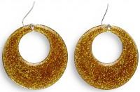 Goldene 70er Jahre Disco Fever Ohrringe