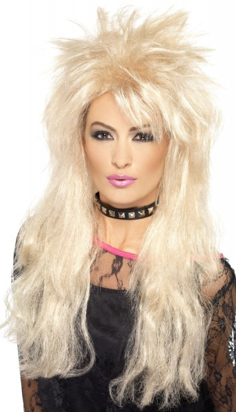Blonde Vokuhila 80er Jahre Perücke