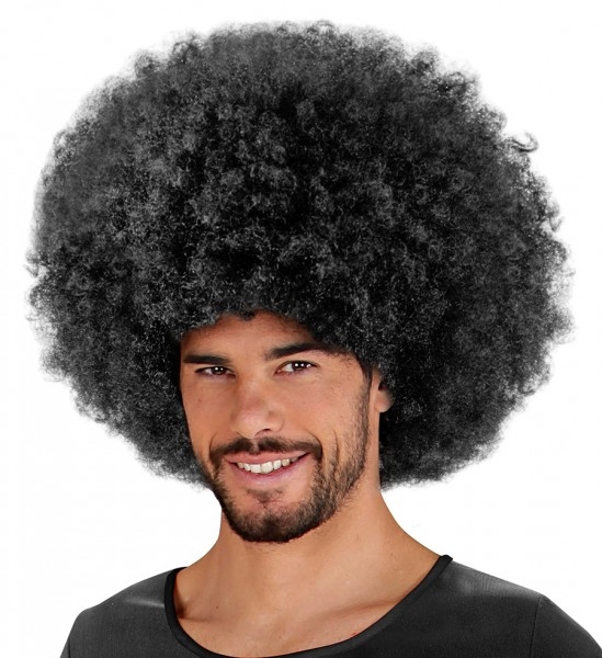 Afro Herren Perücke schwarz