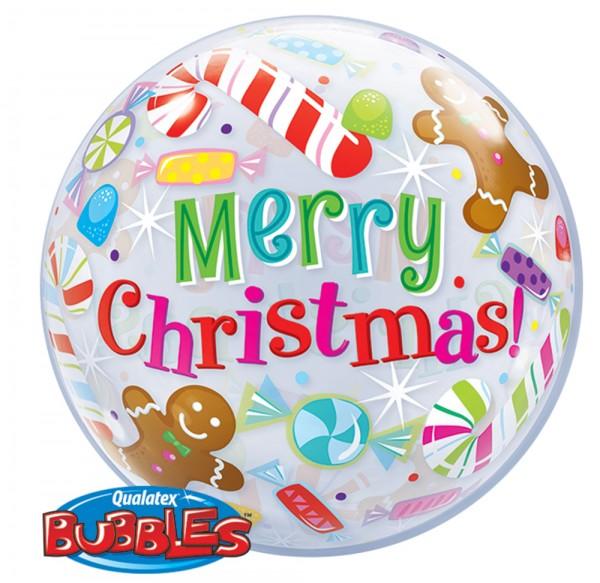 Merry Christmas Orbz Ballon 56cm