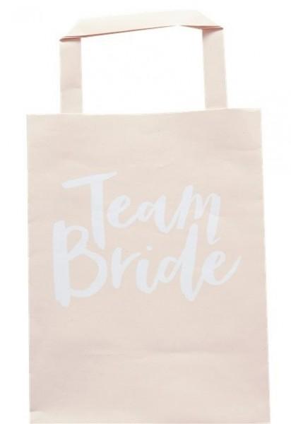 5 Team Bride Papiertüten 20cm