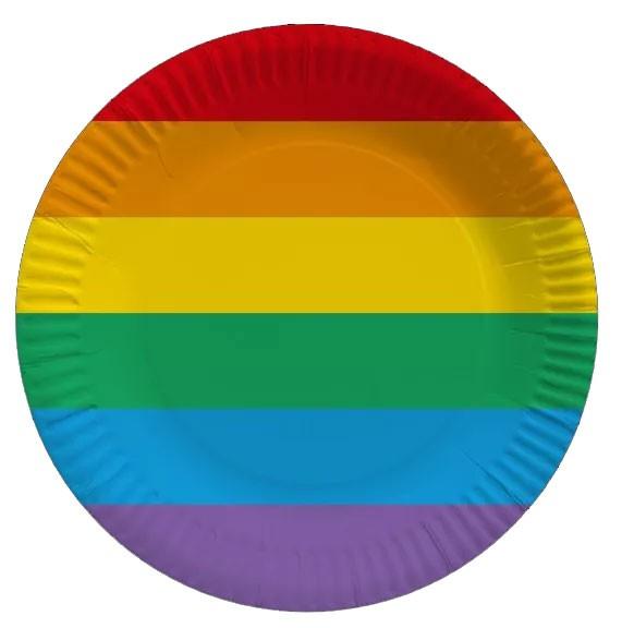 10 Pride party plates 23cm