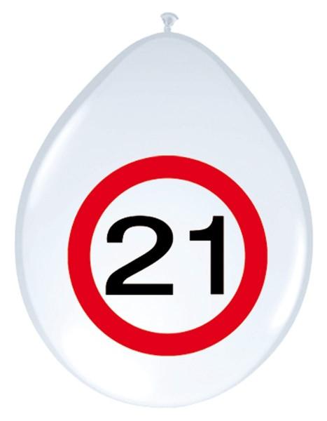 8 palloncini zona 21 30 cm