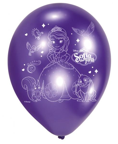 6 Ballons Prinzessin Sofia die Erste