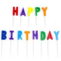 Happy Birthday Buchstaben Kerzen