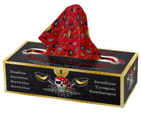 Sebastian Säbel Piraten Taschentücher Box