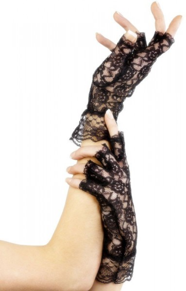 Zwarte kanten handschoenen Claire