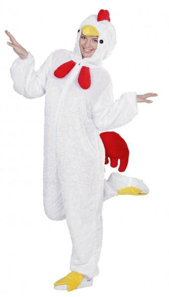 Weißer Hühner Plüschoverall