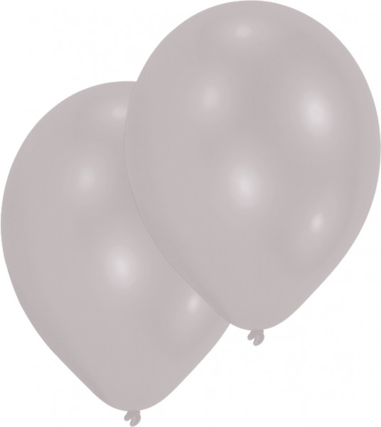 10er Set Luftballons Silber 25 cm 1