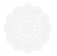 10 Papieruntersetzer Rosette Weiß 5cm