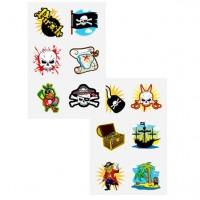 1 Bogen Piratenparty Tattoos