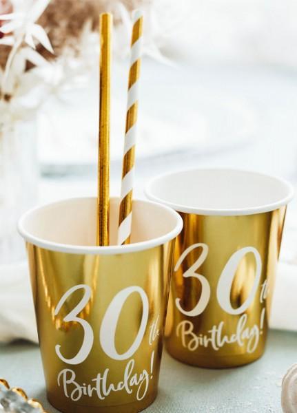 6 tazze lucide per il 30 ° compleanno 220 ml