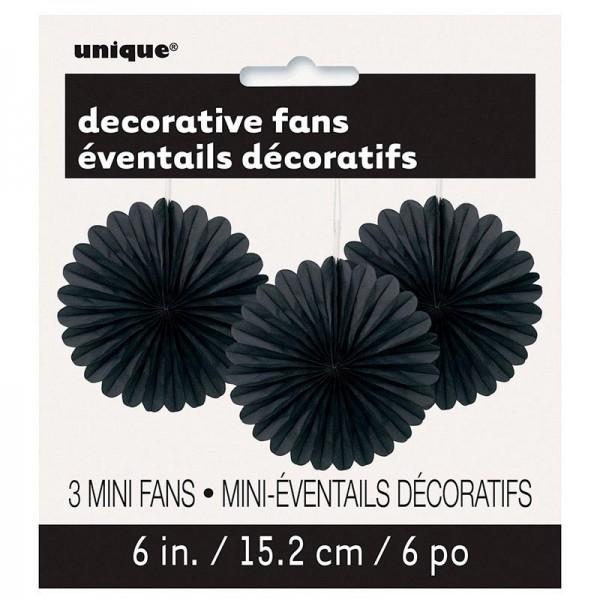 Eventail Décoratif Fleur Noir Et Blanc 40cm