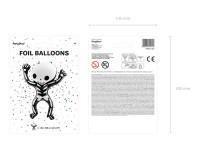 Vorschau: Boo Town Skelett Folienballon 84cm x 1m