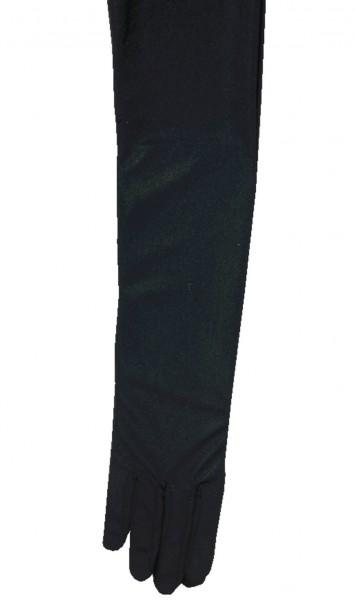 Charleston Satinhandschuhe Schwarz 60cm