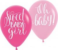 6 Sweet Baby Girl Ballons 27,5cm