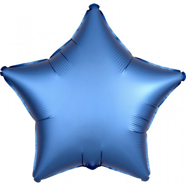 Shiny blue star Folienballon 43cm
