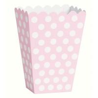 Snack Box Lucy Hellrosa Gepunktet 8 Stück