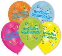 8 Herzlichen Glückwunsch Luftballons bunt
