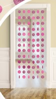 6 Deko-Hänger Sparkling Circles Pink