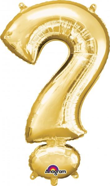 Folienballon Symbol Fragezeichen gold 91cm