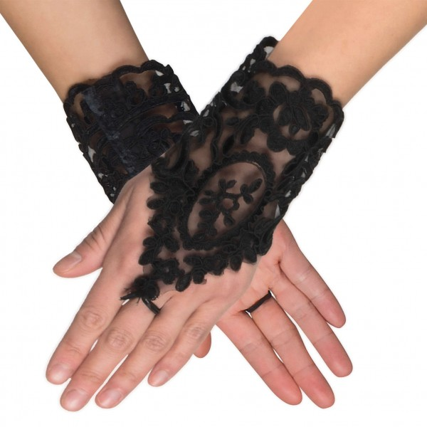 Baroque Gloves in Velvet Look