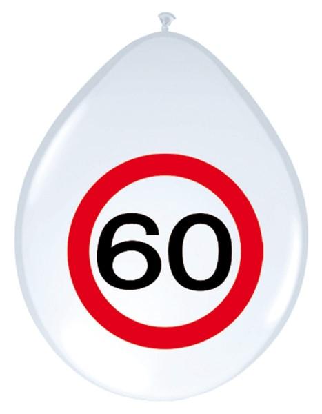 8 verkeersbord 60 ballonnen 30cm