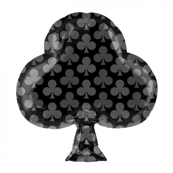 Balon foliowy czarny krzyż 48cm