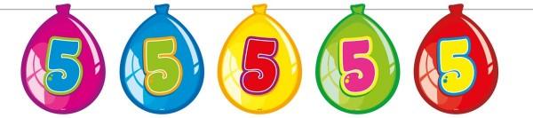 Luftballon Girlande 5 Geburtstag Party De