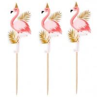 12 Party Flamingo Cocktail Spieße