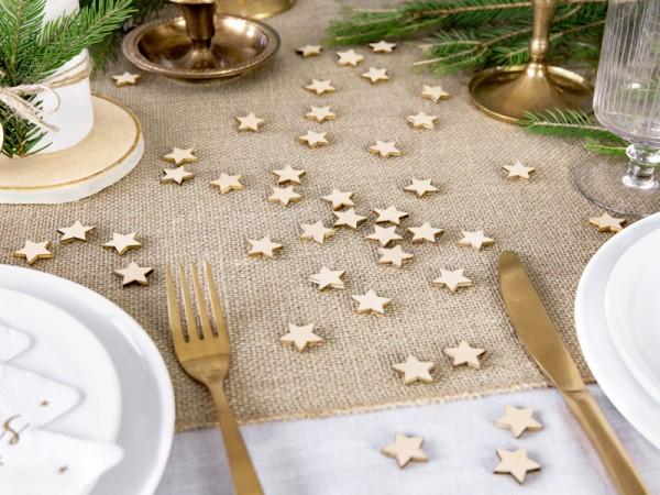 50 estrellas de madera 2 x 2cm