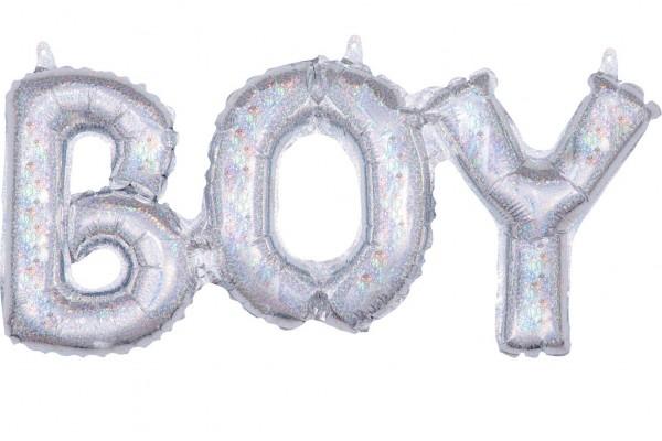 Holografischer Boy Folienballon 50 x 22cm