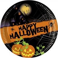 8 Happy Halloween Pappteller 20cm
