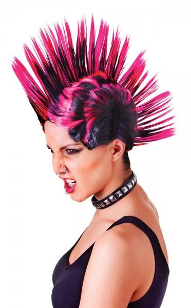 Roze Iroquois punk pruik
