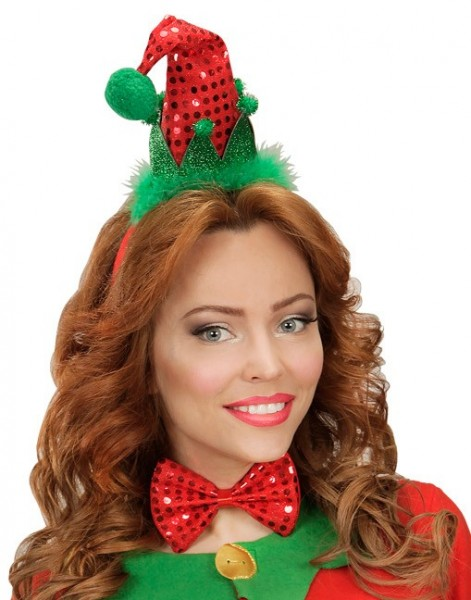 Sombrero elfo descarado con pajarita