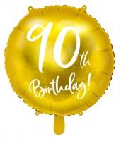 Glossy 90th Birthday Folienballon 45cm