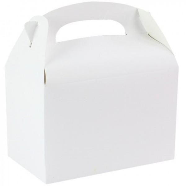 Scatola regalo rettangolare bianca 15 cm