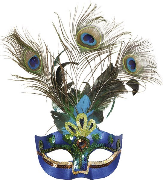 Elegante Paradiso Pfauenaugen Maske