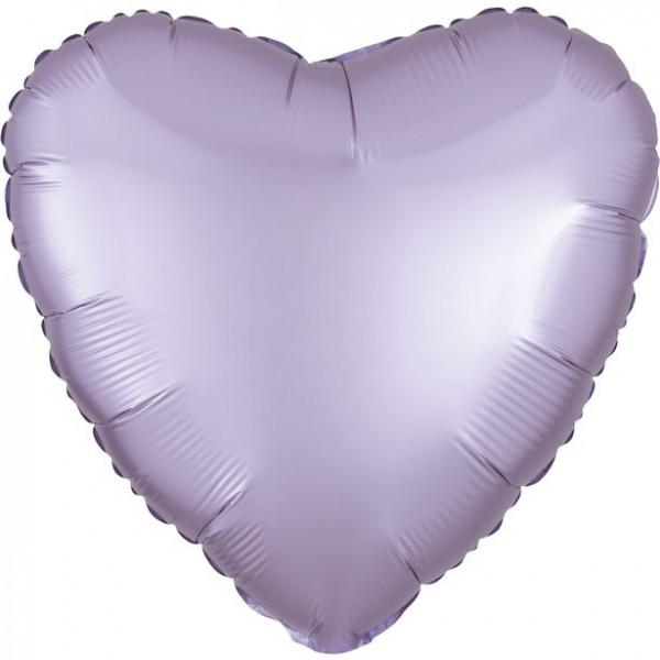 Heart balloon satin lilac 43cm