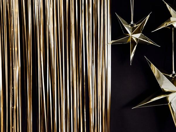 Cortina dorada Lametta 2,5m x 90cm
