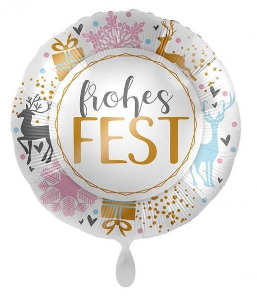 Frohes Fest Folienballon 45cm