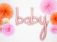 Baby Folienballon roségold 73,5 x 73,5cm
