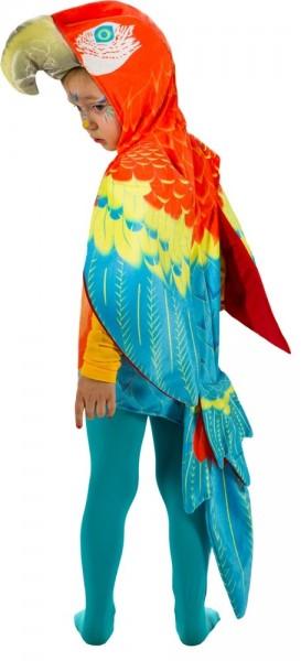 Buntes Papagei Kostüm für Kinder