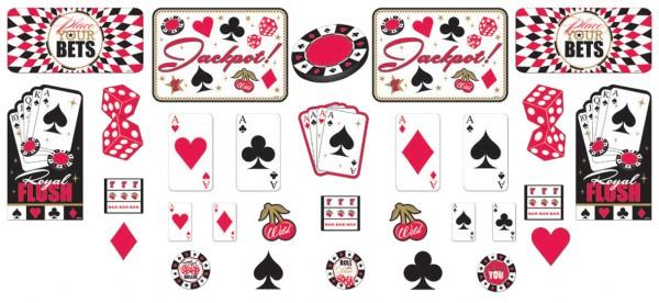 Décoration murale classique de poker de casino